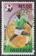 Nigeria SG624 1992 Olympic Games, Barcelona (2nd Issue) 1n.50 Good/fine Used [37/30975/1D] - Nigeria (1961-...)