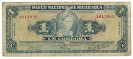 Nicaragua , 1 Cordoba 1958, F. Rare. - Nicaragua