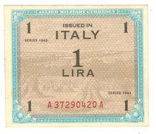 Italy, Allied Military Currency, 1 Lira, 1943, AUNC/UNC - [ 3] Military Issues