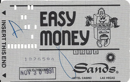 Sands Casino - Las Vegas NV -  PC6 Paper Slot Card - Valid Through In Box  ...[RSC]... - Casino Cards