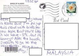 22C : Germany Flower Stamp Used On Birds Of Alaska Postcard - [7] Federal Republic