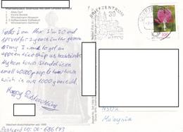 22C : Germany Flower Stamp Used On Hansestadt Stendal Postcard - [7] Federal Republic
