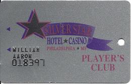 Silver Star Casino - Philadelphia MS - 3a Issue Slot Card - Black Stars / 27mm Wide Logo - Casino Cards