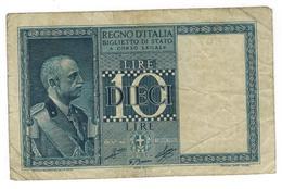 Italy, 10 Lire 1935 ,  F/VF. - [ 1] …-1946 : Kingdom
