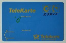 GERMANY - C Netz - T103 - TeleKarte - M1 On Reverse And Magstripe - Handwritten Control Number- Telekom - Used - Germany