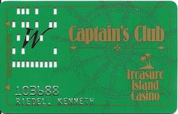Treasure Island Casino - Welch, MN - 1b Issue Slot Card - PPC Logo On 3 Lines - Casino Cards