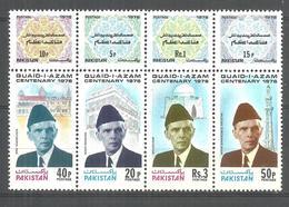 PAKISTAN STAMPS 1976 QUAID E AZAM M. ALI  JINNAH CENTENARY MNH - Pakistan