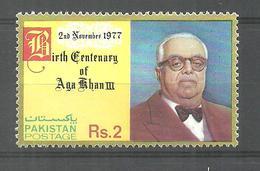 PAKISTAN STAMP 1977 BIRTH CENTENARY OF AGA KHAN III MNH - Pakistan