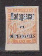 MADAGASCAR      N°  YVERT  :  TAXE 3   NEUF AVEC  CHARNIERES      ( CH 11  ) - Madagascar (1889-1960)