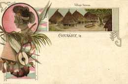 CONAKRY Style Gruss Type Foulah Village Sousou  Edit Fr Colin& Cie  Precurseur  RV - Guinée Française
