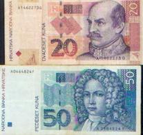 CROATIE – Lot De 2 Billets - Croatie