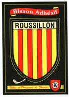 CPM      BLASON ADHESIF       VILLES ET PROVINCES DE FRANCE   ROUSSILLON - Other