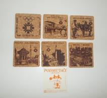 OLYMPIC GAMES SARAJEVO 1984 SET OF 6 SOUVENIR CORK COASTERS - Apparel, Souvenirs & Other