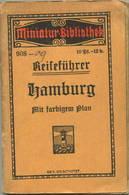 Miniatur-Bibliothek Nr. 908-909 - Reiseführer Hamburg Mit Farbigem Plan - 8cm X 12cm - 104 Seiten Ca. 1910 - Verlag Für - Hamburg & Bremen