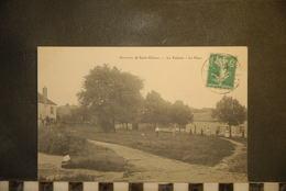CP, 91, Environs De Saint Cheron,  La Tuilerie,  La Place, Animée, RARE - Saint Cheron