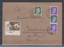 Dt.Reich Fernbrief Bochum 22.7.43 MiF 784,831 Ecke Ul Und Zusammendruck S 293 Aus Automatenrollen - Germany
