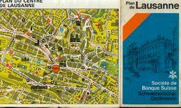 SUISSE - Plan De LAUSANNE (14/03/1979) - Geographical Maps