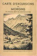 SUISSE – Carte D'excursions De MORGINS, VAL D'ILLIEZ, DENTS DU MIDI Et HAUTE-SAVOIE) - Geographical Maps