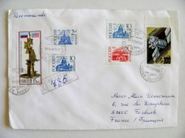 Cover Sent From Russia Kaliningrad Registered 1993 Space Satellite Nesterov Usa Monument Columbus Joint Issue ? - Cartas