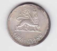 50 Cents 1936 Hailé Sélassié Argent   à Nettoyer - Ethiopie