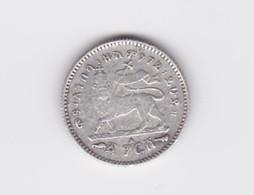1 Gersh 1895 Ménélik Argent  TTB - Ethiopie