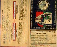 BRUXELLES) «Les Transports Bruxellois – Exposition 1935 » - Plans Divers + Lignes En Relation Avec L'index Des Rues ) - Chemin De Fer