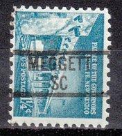 USA Precancel Vorausentwertung Preo, Locals South Carolina, Meggett 839 - Vorausentwertungen