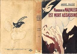 André Falcoz. MONSIEUR DE MALVALEIX EST MORT ASSASSINE. Le Masque Avec Jaquette - Le Masque