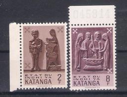 Katanga 1961 Sc Nr  56,61  MNH  (a2p10) - Katanga