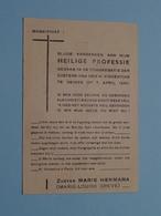 Aandenken HEILIGE PROFESSIE - DEINZE 7 April 1945 ( Zuster Marie HERMANA / CREVE Marie-Louise ( Details - Zie Foto ) ! - Religion & Esotérisme