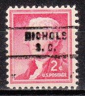 USA Precancel Vorausentwertung Preo, Locals South Carolina, Nichols 743 - Vorausentwertungen