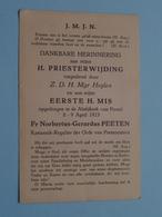 H. PRIESTERWIJDING Toegediend Door Z.D.H. Mgr Heylen April 1923 Abdijkerk POSTEL > (Fr. PEETEN) ( Details - Zie Foto ) ! - Religion & Esotérisme
