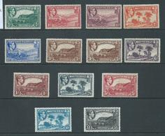 Montserrat 1938 - 1948 KGVI Definitives Perf 14 & Perf 12 Set 12 To 1 Pound Mint , Extra 3d Shade - Montserrat