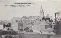 LAMBALLE - Vue Prise à L'arrivée De St-Brieuc - Cheminées D'usine - RARE - Lamballe