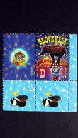 Slowenien 403 **/mnh, EUROPA/CEPT 2002, Zirkus - Eslovenia