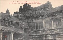 ¤¤  -  CAMBODGE   -   ANGKOR-VAT  -  Cour Ouest Et Grand Escalier De L'étage Supérieur -  Voyage Aux Monuments Khmers - Cambodia