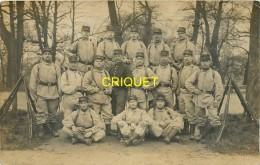 Guerre 14-18, Carte Photo De Poilus Du 23ème, Phot Henry à Lunéville - War 1914-18