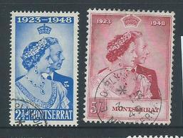 Montserrat 1948 Royal Silver Wedding Set 2 FU - Montserrat