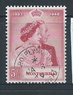 Montserrat 1948 5/- Royal Silver Wedding Single VFU , FDI Cds - Montserrat