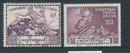 Montserrat 1949 UPU 6d & 1/- FU - Montserrat