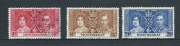 Montserrat 1937 KGVI Coronation Set 3 FU - Montserrat