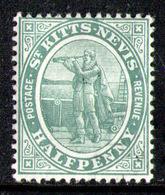 SAINT KITTS 1907 - From Set MH* - St.Christopher-Nevis-Anguilla (...-1980)