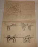 Plan Du Chemin De Fer Métropolitain De Paris. Projets Eiffel Et De La Compagnie Du Nord. 1890 - Public Works