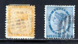 Prince Edouard 1864 Yvert 4 - 6 (o) B Oblitere(s) - Prince Edward (Island)