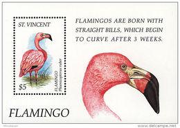 MDB-BK2-227-2 MINT ¤ ST VINCENT 1995 BLOCK ¤ BIRDS OF THE CARIBBEAN OISEAUX BIRDS PAJAROS VOGELS VÖGEL - Flamingo