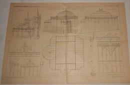 Plan Du Jardin D'hiver  Exécuté Au Château De M. Bouvet Ladubay à Saint Hilaire Saint Florent. Maine Et Loire. 1890 - Public Works