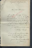 LETTRE DE 1892 DE LONGERON FAMILLE ROBIN CHARLES GARDE BARRIERE À VINCELLES : - Manuscrits