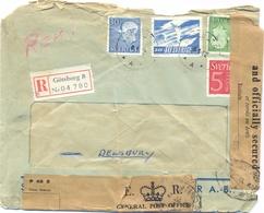 GRANDE-BRETAGNE  LR GÖTEBORG SUEDE TàD 8-1-62 => DEWSBURY - 2 Bandes FOUND OPEN OR DAMAGED AND OFFICIALLY SECURED - Postmark Collection