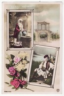 GREECE WOMAN AND BOY IN TRADITIONAL GREEK COSTUMES C1916 Vintage Souvenir RPPC Real Photo Postcard - Greece