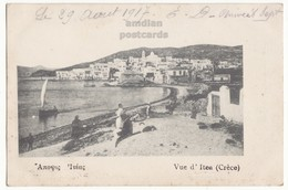 GREECE PHOKIDA VIEW OF ITEA TOWN AND BEACH C1917 Vintage Old Postcard - Greece